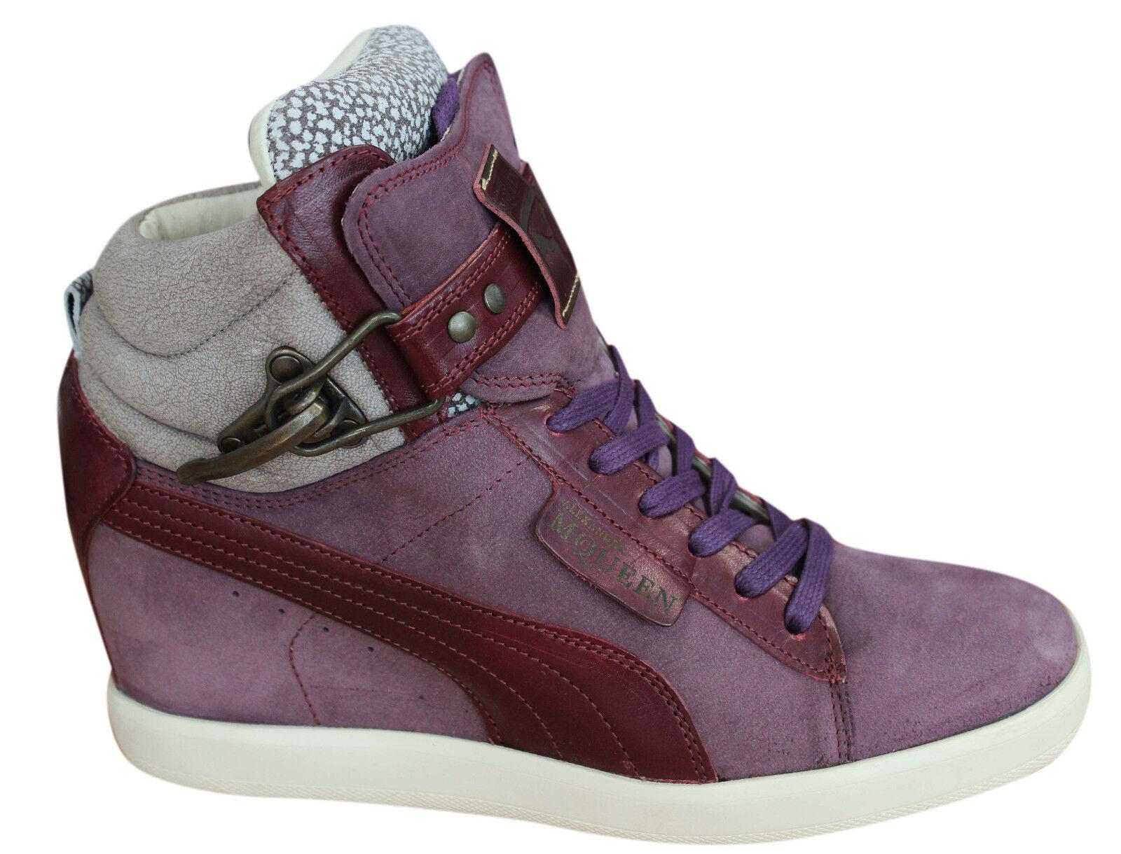 Détails sur Puma Alexander McQueen AMQ Joustesse Mid Wedge Chaussures Femme Baskets 355397 02 U54 afficher le titre d'origine