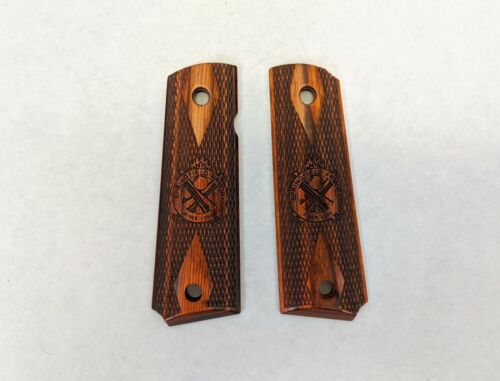 Springfield Armory 1911 Wood Grips. Full Size, Factory Originals. Rosewood.