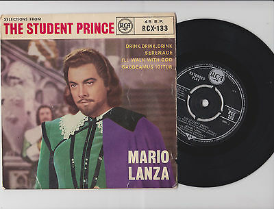 "from THE STUDENT PRINCE ~ MARIO LANZA ~ 7"" EP 4 tracks"