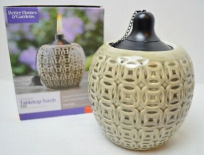 Better Homes & Gardens Ceramic Flame Outdoor Decorative Tabletop Torch BRAND