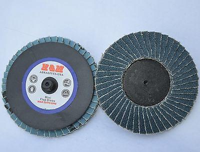 10 3 Inch Zirc Flap Disc 40 Grit Roloc Quick Change Type R Sanding Grinding