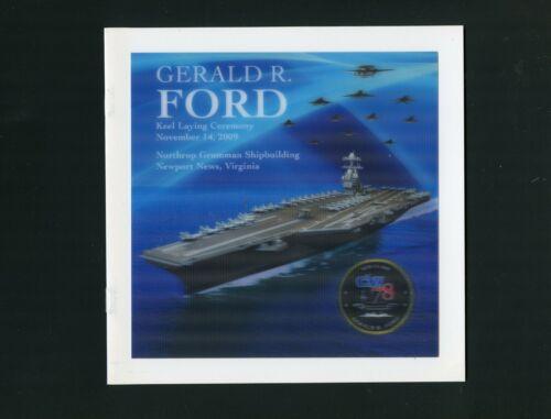 USS Gerald R. Ford CVN 78 Keel Laying Navy Ceremony Program