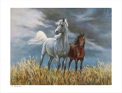 "RARE ""THE GATHERING STORM"" Hand Signed, Vintage, Collectible Print by KELLY"