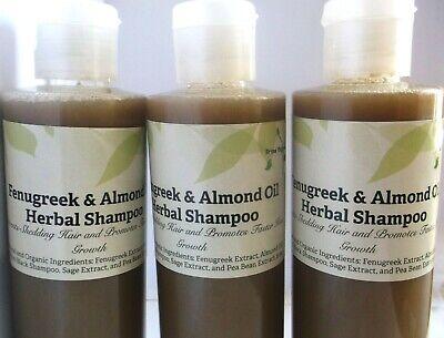 Fenugreek & Almond Oil Herbal Shampoo 8 oz. Sulfate-free Shampoo Brina Organics ()