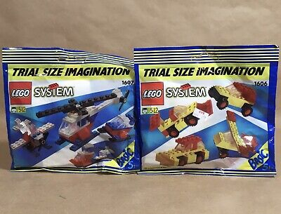 LEGO 1606 & 1607 TRIAL SIZE IMAGINATION SEALED NEW OLD STOCK