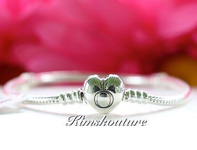 Authentic Pandora Heart Clasp Sterling Silver Bracelet 590719 Choose Size