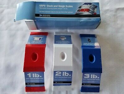 Usps Stack And Weigh Stackable Shipping Scales 1 - 6 Lbs Red White Blue New