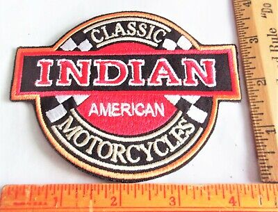 """vintage """"Indian Motorcycle"""" patch collectible old biker USA MC cycle memorabilia"""