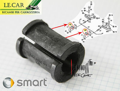 SUPPORTO IN GOMMA BARRA DI TORSIONE ANTERIORE SMART FORTWO 450 9/1998 > 6/2007