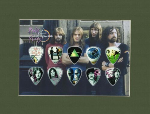 Pink Floyd Matted Picture Guitar Pick Limited Waters Another Brick In The Wall