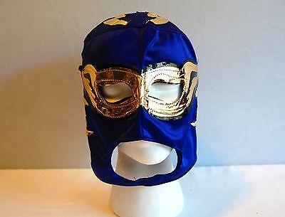 BLUE LUCHADOR KIDS Mask lucha libre wwe libre Halloween NEW - Luchador Halloween Costume