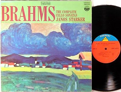 EVEREST Brahms JANOS STARKER Complete Cello Sonatas BOGIN SDBR-3235 EX+