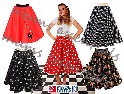 Ladies 1950's 50's GREASE Style Polka Dot 24