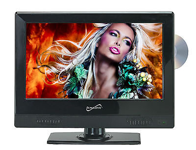 Supersonic 13.3-Inch 1080p LED Widescreen AC/DC HDTV w/ Built-in DVD Player New