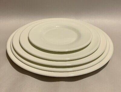 Set Of 5 Pc Place Setting Arcoroc Zenix Glass Dinnerware By Arc Cardinal White