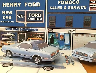 Papercraft 1974 - 1978 Ford Mustang II Ghia coupe Paper Model Car EZU-make
