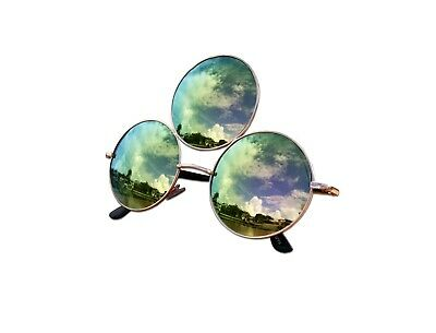 Third Eye Sunglasses Unisex Polarized Emerald Green with Pink Reflective (Emerald Sunglasses)