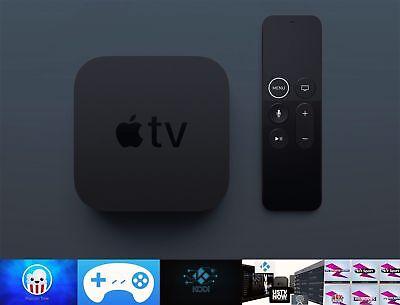 New Apple TV 4k 32GB UNTETHERED PopcornTime PPV, US TV, Movies
