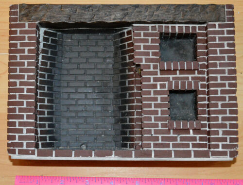 Dollhouse 1:12 Scale Early American Colonial Brick Walk In Fireplace/Oven