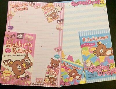 Letter Writing Set - Rilakkuma Snacks Letter Set - Cute Korean Stationery - Kawaii writing paper