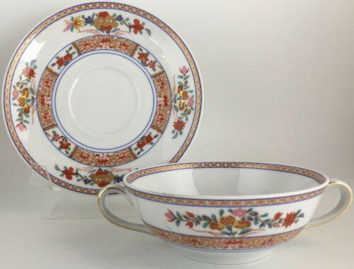 Bernardaud Pondichery Cream soup bowl & saucer