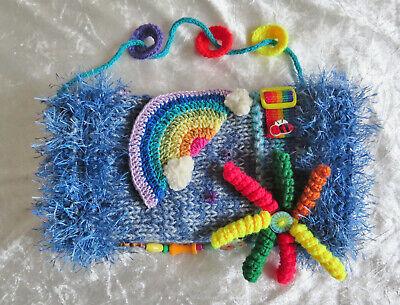 Twiddle Fidget Muff gift handmade Hand-Warmer Hospital Gift Dementia Elderly M67
