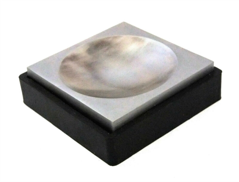 """4"""" Double Sided Steel Dapping Bench Block With 3"""" Groove & Rubber Base"""