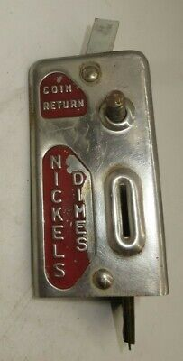 Vintage Stoner Candy Machine Original Coin Slot - Art Deco Nickel or Dime