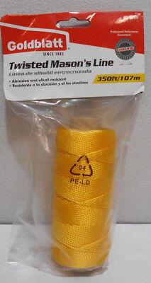 Goldblatt Twisted Masons Line Yellow 350 Ft G11249