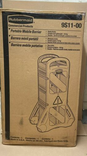 Rubbermaid Portable Mobile Barrier 9S11-00  NEW  FREE SHIPPING