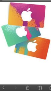 2 $25 ITunes card for 40