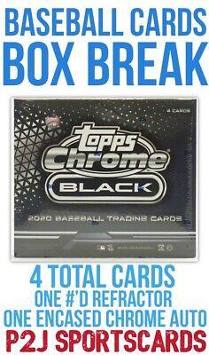 Topps 2020 Chrome Black Baseball Hobby Box Break - 1 Random Team⚾️MLB Break 4218