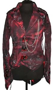 Steampunk tail painted jacket with chains DHP5568