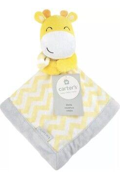 Carter's Giraffe Yellow Gray Chevron Security Blanket Lovey](Giraffe Blanket)