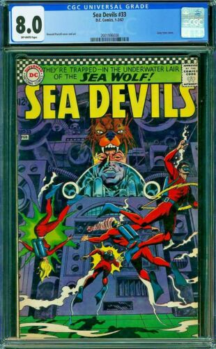 SEA DEVILS 33 CGC 8.0 Howard Purcell 1967