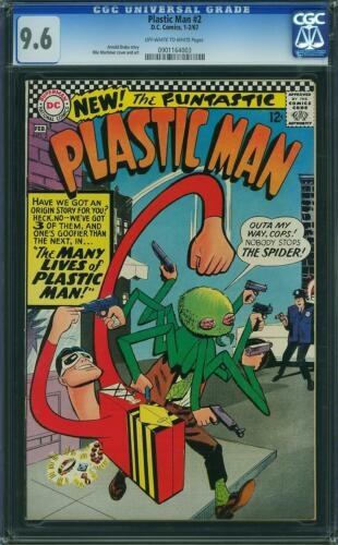 Plastic Man #2 CGC 9.6 DC 1967 Rare Silver Age NM Copy! K12 903 1 cm