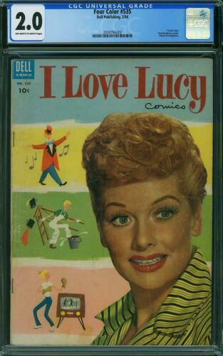 Four Color #535 CGC 2.0 Dell 1954 Lucille Ball I Love Lucy Photo Cover! L10 1 cm