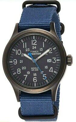 Timex Men's Expedition Scout 40 watch Blue Slip Thru TW4B156009J - new in box