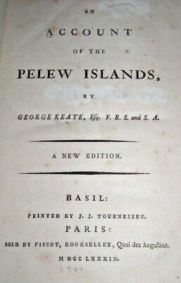 (1789) Account of the Pelew Islands.  Pacific Ocean, Palau. EAST INDIA COMPANY