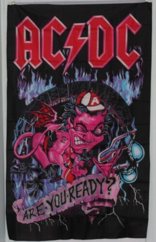 "AC/DC ""Are You Ready"" Textile Flag/Wall Hanging/Poster (90cms x 158cms)"