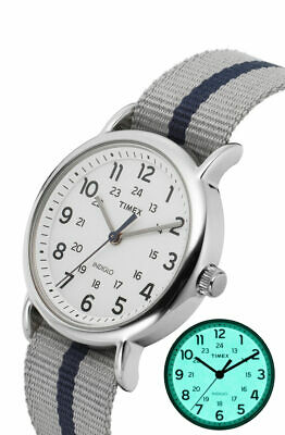 TIMEX TW2P72300 Weekender Unisex Wristwatch 38mm Fabric Watch Indiglo,Quartz