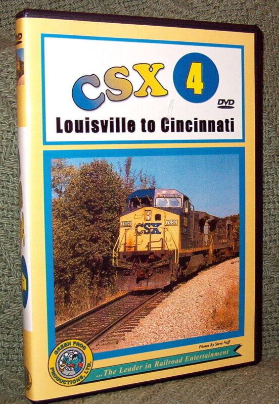 "20043 TRAIN VIDEO DVD ""CSX VOL. 4 LOUISVILLE TO CINCINNATI"""