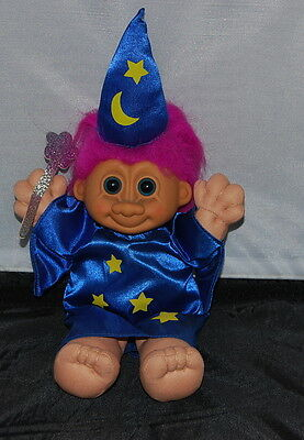 Wizard with wizard hat and Magic Wand Russ Troll 9 inches  - Magic Wand And Hat