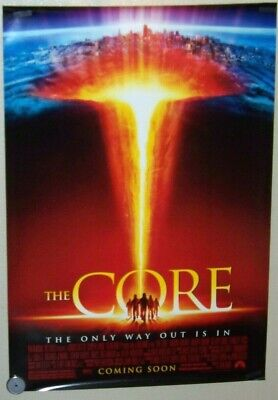 Original 2003 THE CORE Movie Poster 2 Sided 27x40 Hillary Swank Stanley Tucci Core Movie Poster