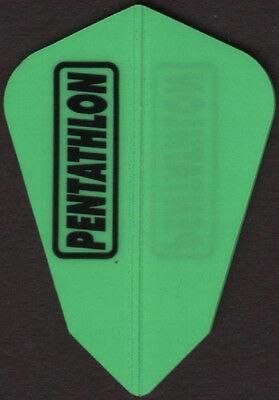 Green on Black PENTATHLON V-SWISH Dart Flights 3 per set