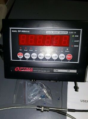 New Optima Op-900a Ms Scale Digital Weighing Indicator Tripp-lite Sk-30