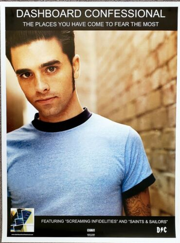 Dashboard Confessional Rare 2001 Promotional Poster