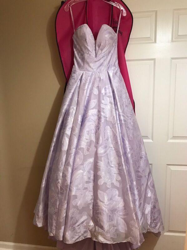 Mori Lee Floral Printed Organza Prom Dress