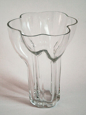 Glas Vase Rosenthal studio-linie Tapio Wirkkala Blüte Op Art Pop Art 1970