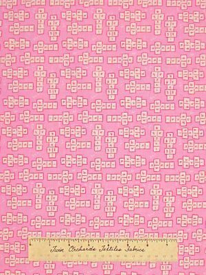 Pink Hopscotch Fabric Children At Play Michael Miller Baby Girl Cotton Yard